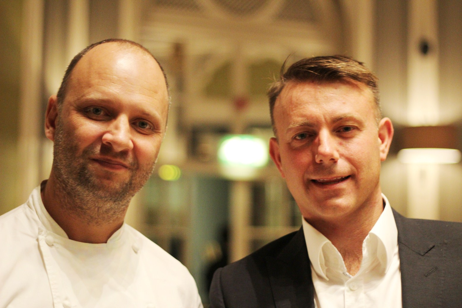 Simon Rogan and Bob Riley