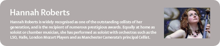 Manchester Camerata's Principal Cellist Hannah Roberts