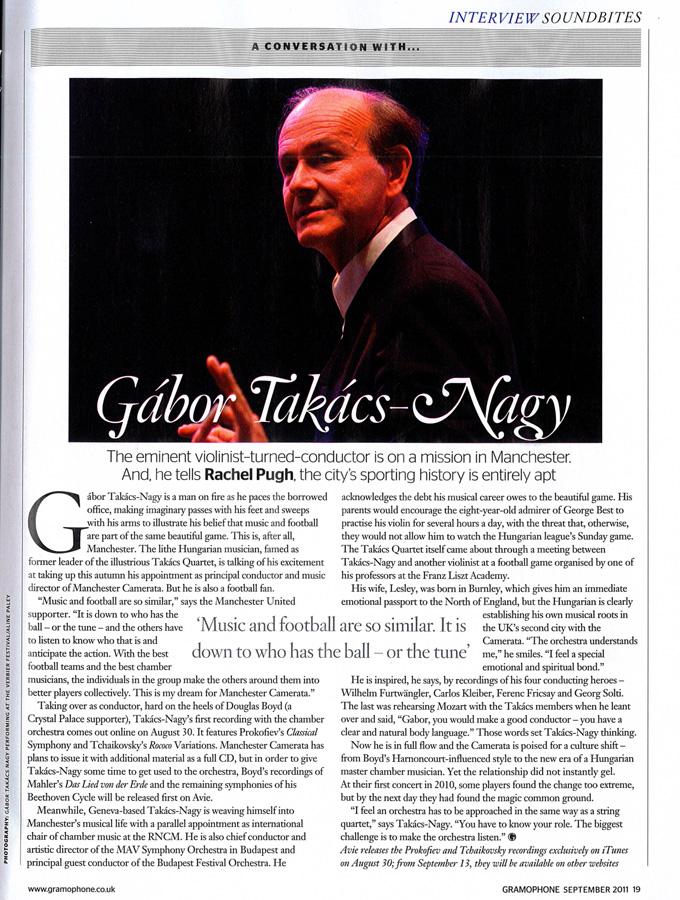 Gabor Takacs Nagy interviewed in Gramophone Magazine