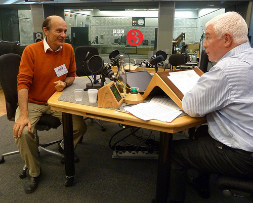 gabor Takacs-Nagy with In Tune presenter Sean Rafferty