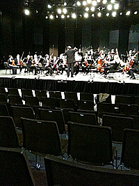 Gabor Takacs Nagy rehearsing with the Verbier Festival Chamber Orchestra