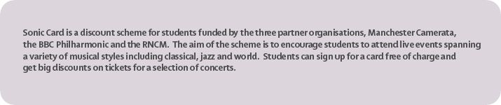 Bargain deals for Students at Manchester Camerata