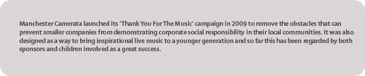Manchester Camerata's Thank You for the Music Scheme