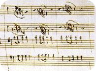 Mozart's Jupiter Score