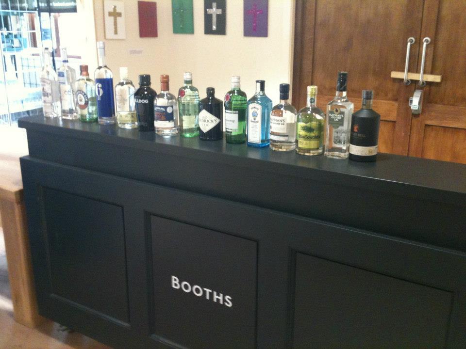 Booths pop-up gin bar