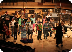 St Philips School Hulme Performing on RNCM Stage