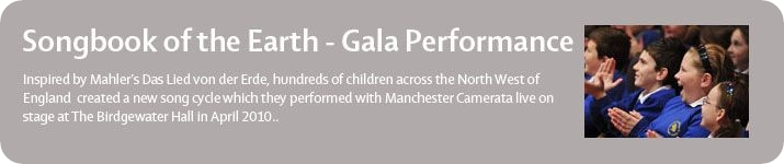 Gala Performance of Songbook o fthe Earth at the Bridgewater Hall