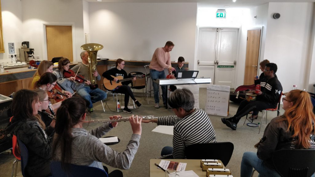 A Weekend Of Composing With Young Producers From Across Cumbria