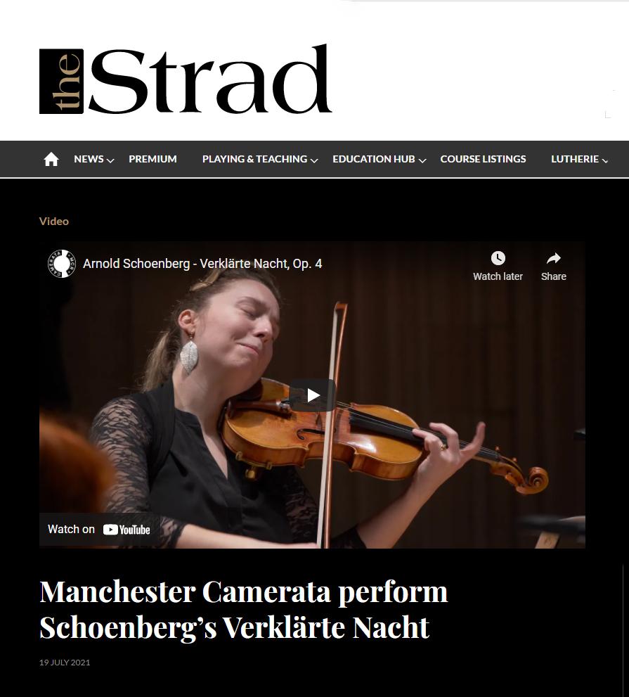Schoenberg – Verklärte Nacht.  Premiered on The Strad Magazine.