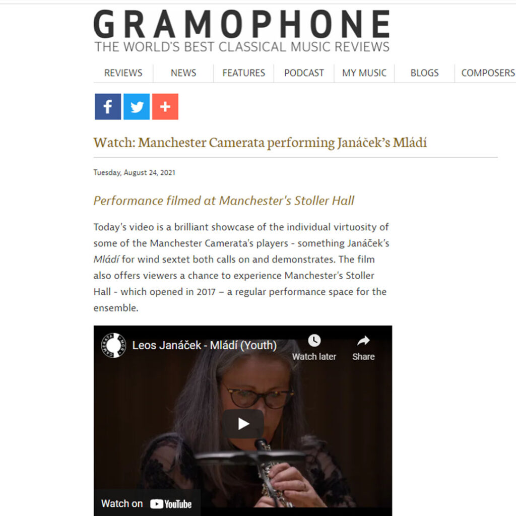 Janáček – Mládí Premiered on Gramophone.co.uk